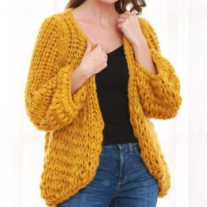 🌼NEW Ginger mustard open cardigan 2X chunky